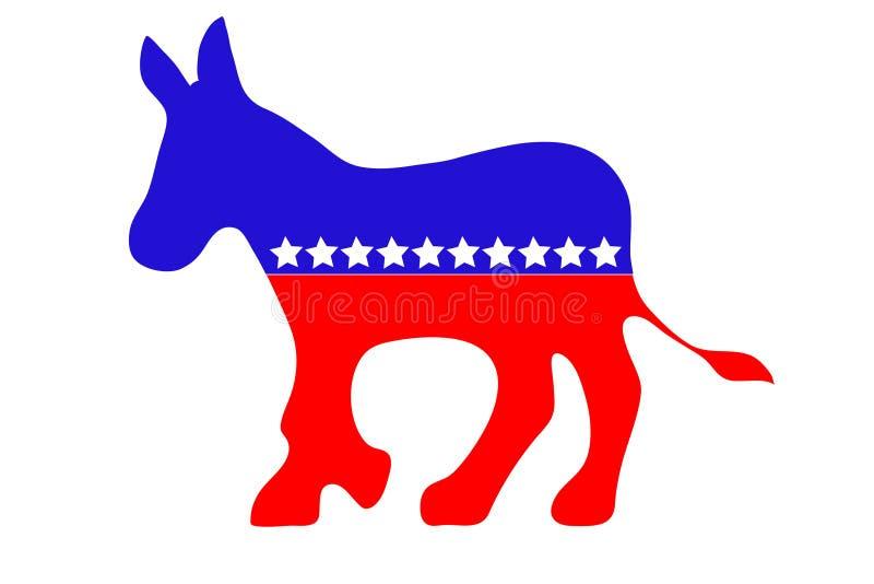 Democrat-Esel lizenzfreie abbildung