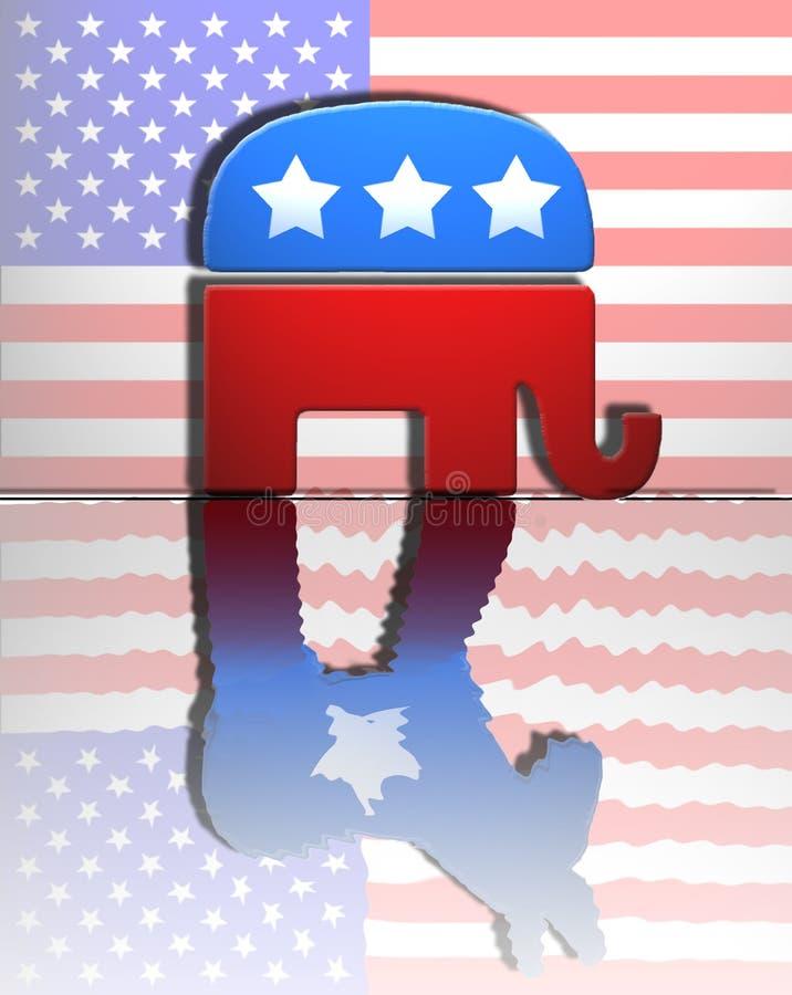 Democrat repubblicano illustrazione vettoriale