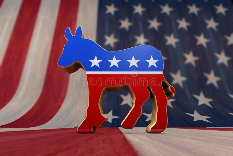 Democrat Symbol vector illustration