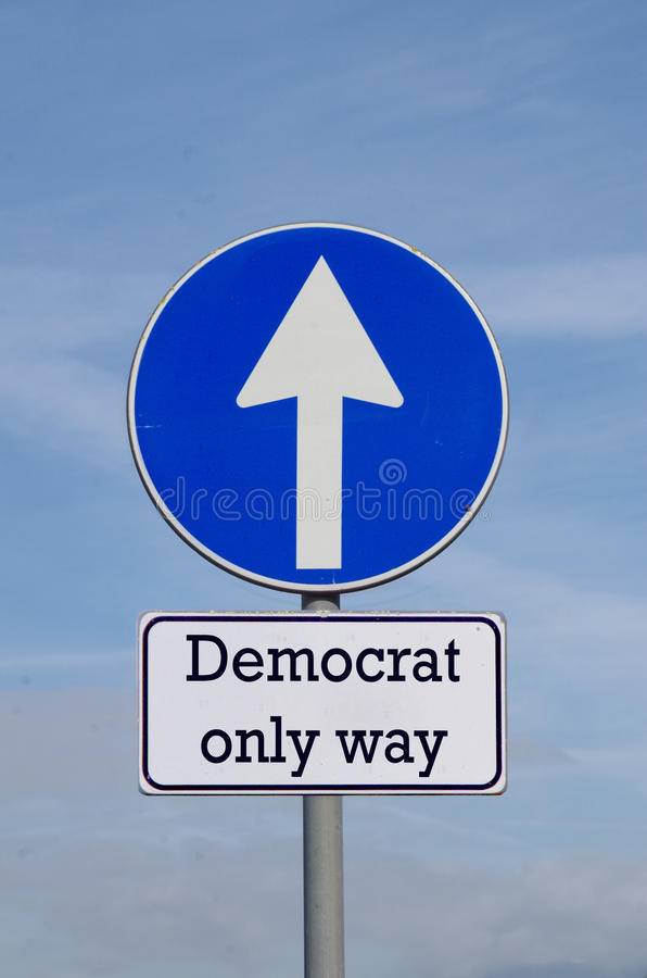 Democrat, the only way for the future. Democrat, the only way to make our country great stock images