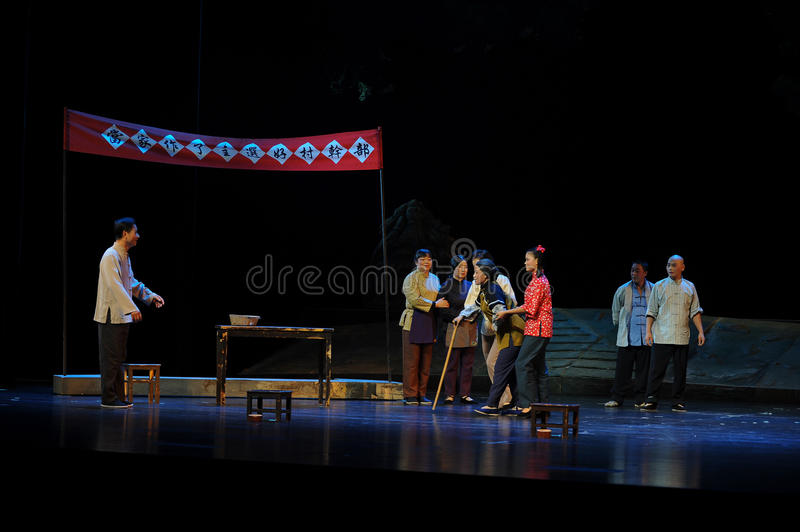 The democratic election of the village- Jiangxi opera a steelyard. Jiangxi opera a steelyard is adapted from a true story: the last century fortys, the royalty free stock photography