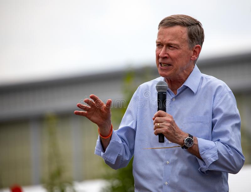 Democratic Presidential Candidate John Hickenlooper stock image