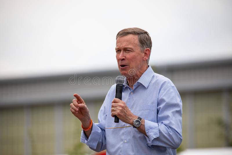 Democratic Presidential Candidate John Hickenlooper stock photography
