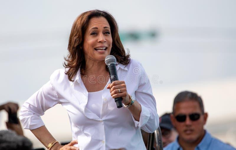 Democratic Presidential Candidate Kamala Harris. Des Moines, Iowa / USA - August 10, 2019: United States Senator and Democratic presidential candidate Kamala stock image