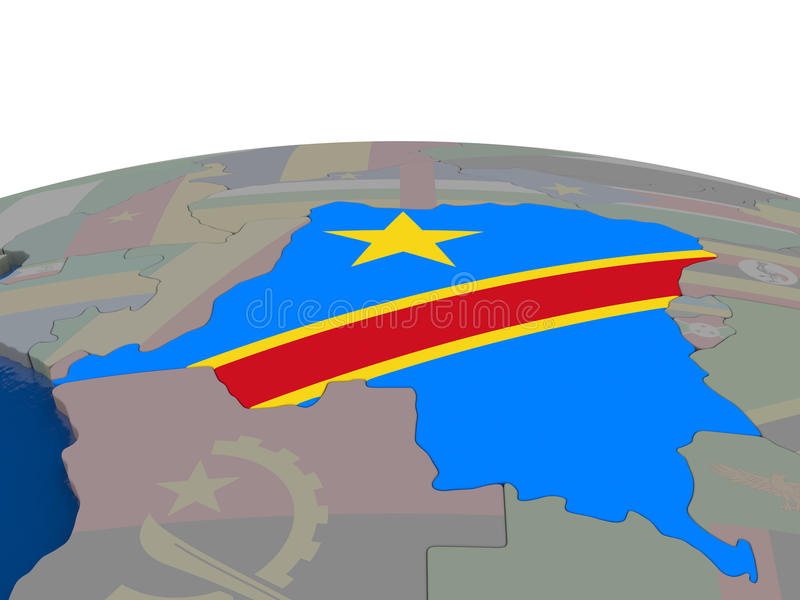 Download Democratic Republic Of Congo With Flag Stock Illustration - Image: 83718713