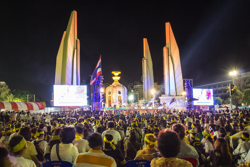 Democratie Bangkok royalty-vrije stock foto's