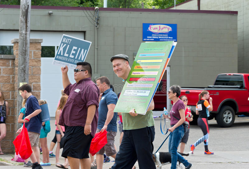 Democrats March in Mendota Parade stock photo