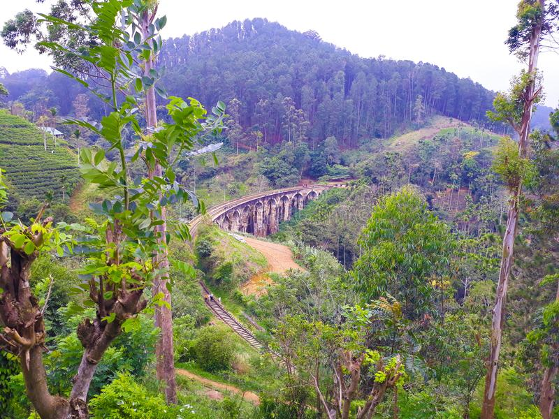 Demodara neuf archers pont, Ella Sri Lanka images stock