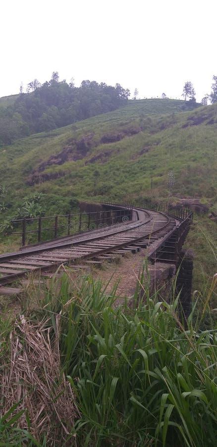 Demodara zwarte brug van Sri Lanka stock afbeelding
