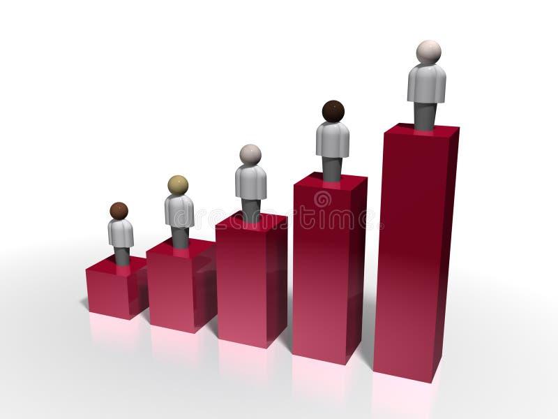 Demografia ilustração stock