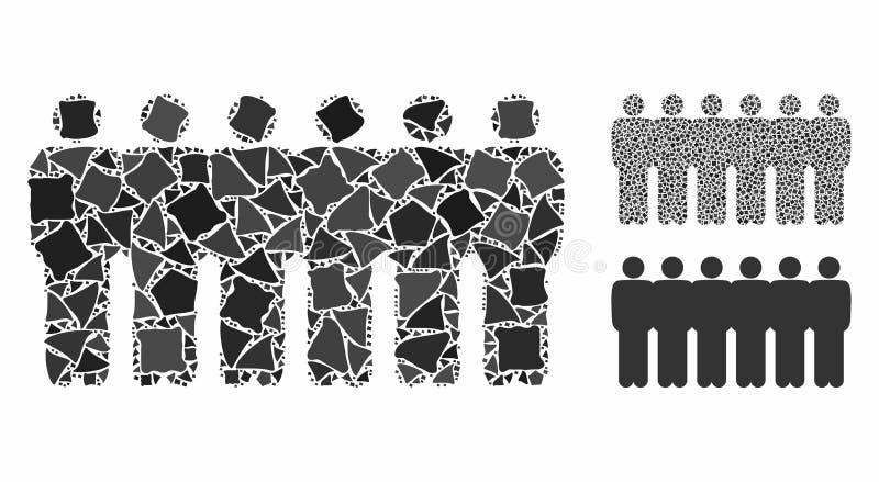 Demografia ludzka Mozaika Ikona Bumpy Pieces ilustracja wektor