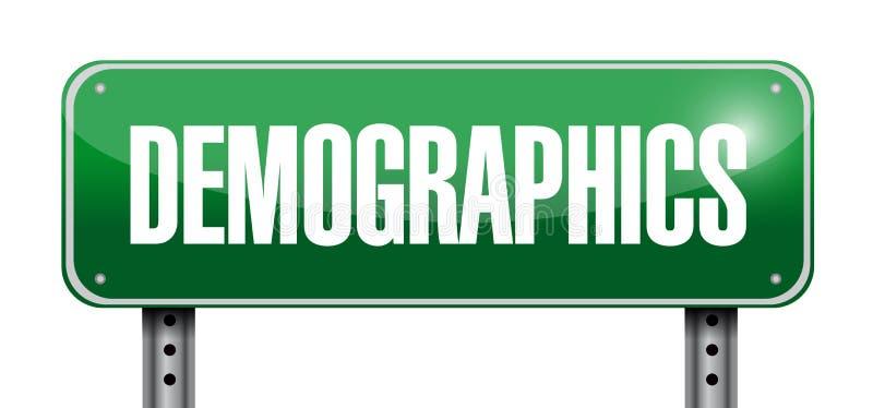 demografia znaka ulicznego ilustracja royalty ilustracja