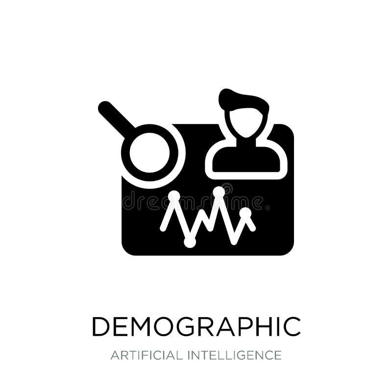 demografisch pictogram in in ontwerpstijl demografisch die pictogram op witte achtergrond wordt geïsoleerd demografisch vector ee stock illustratie