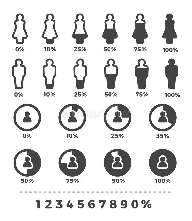 Demographic icon set stock images