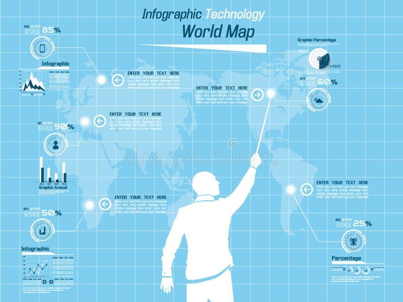 Demographisches Elementdiagramm und -graphik Infographic stock abbildung