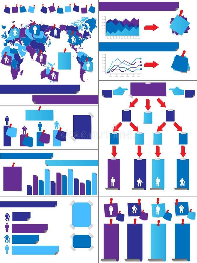 Demographisches Elementdiagramm und -graphik Infographic vektor abbildung