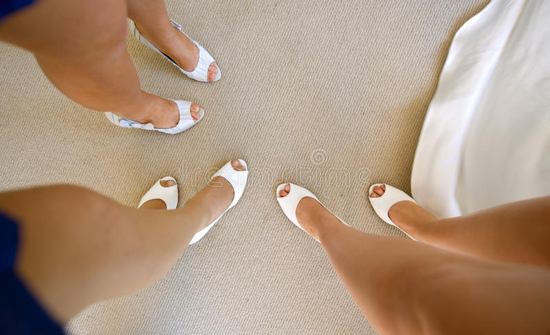 Demoiselles d'honneur images stock