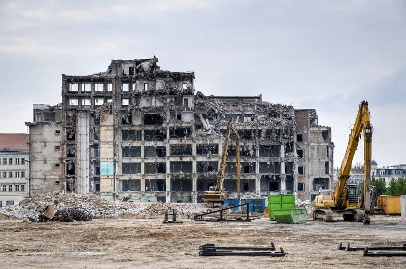 Demoition van de bouw