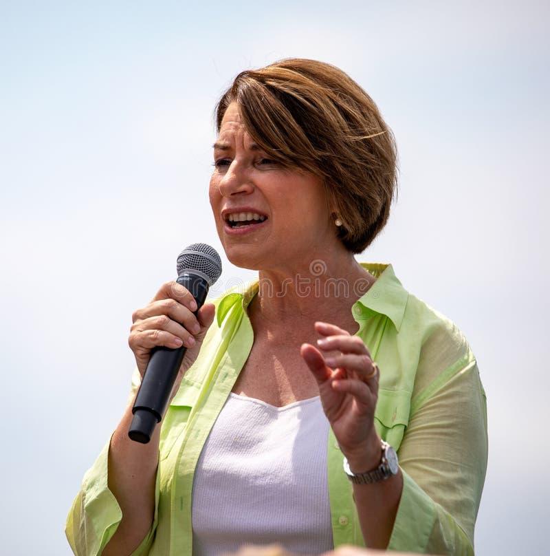 Demokrat Amy Klobuchar lizenzfreie stockfotos