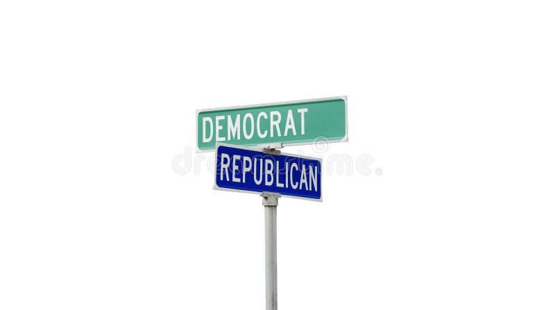 Demokrat- och republikanpolitiska partier arkivbild