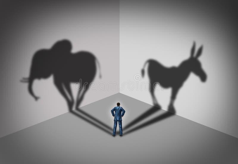 Demokrata I Republikański wybór royalty ilustracja