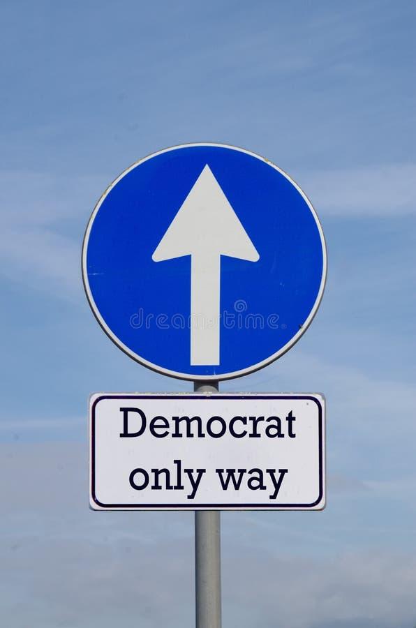 Demokrata jedyny sposób dla przyszłości obrazy stock