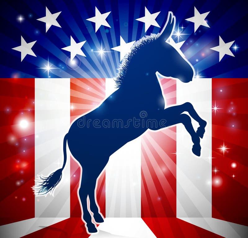 Demokrata osła Polityczna maskotka ilustracja wektor
