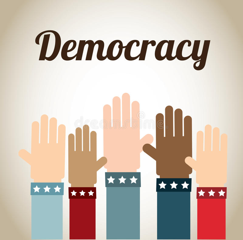Demokrati vektor illustrationer