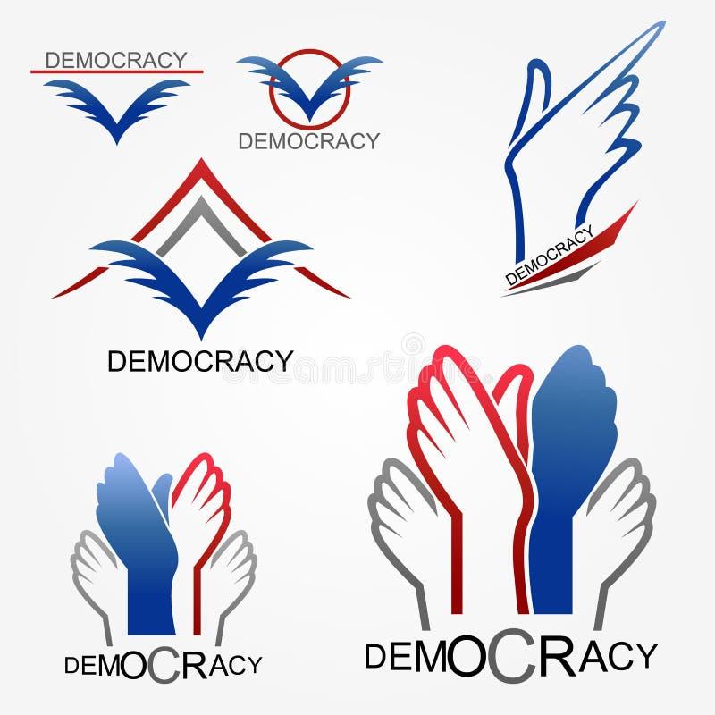 demokrati stock illustrationer