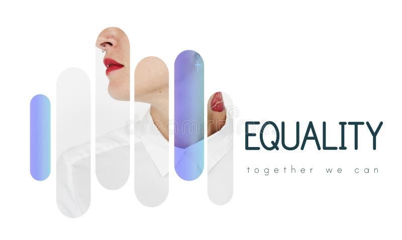 Demokrati för jämställdhetfrihetsaktie tillsammans arkivfoto