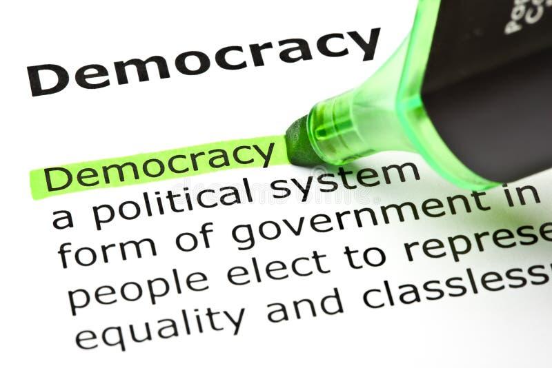 Demokratidefinition royaltyfria bilder
