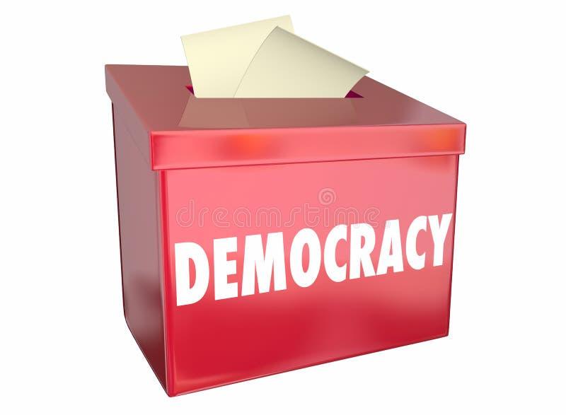 Demokratie-Freiheits-auserlesene Abstimmungs-Wahlurne stock abbildung