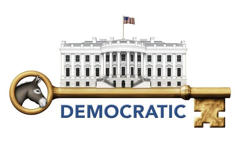 Demokratischer Schlüssel zum Weißen Haus stockbilder