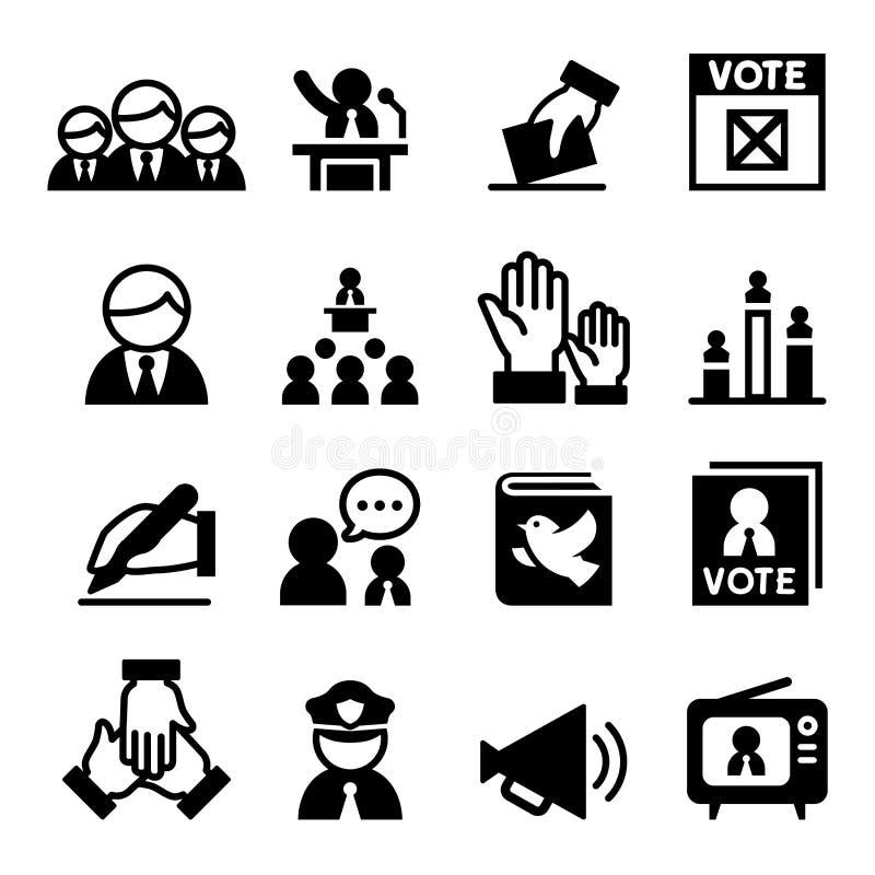 Demokratisymbol vektor illustrationer