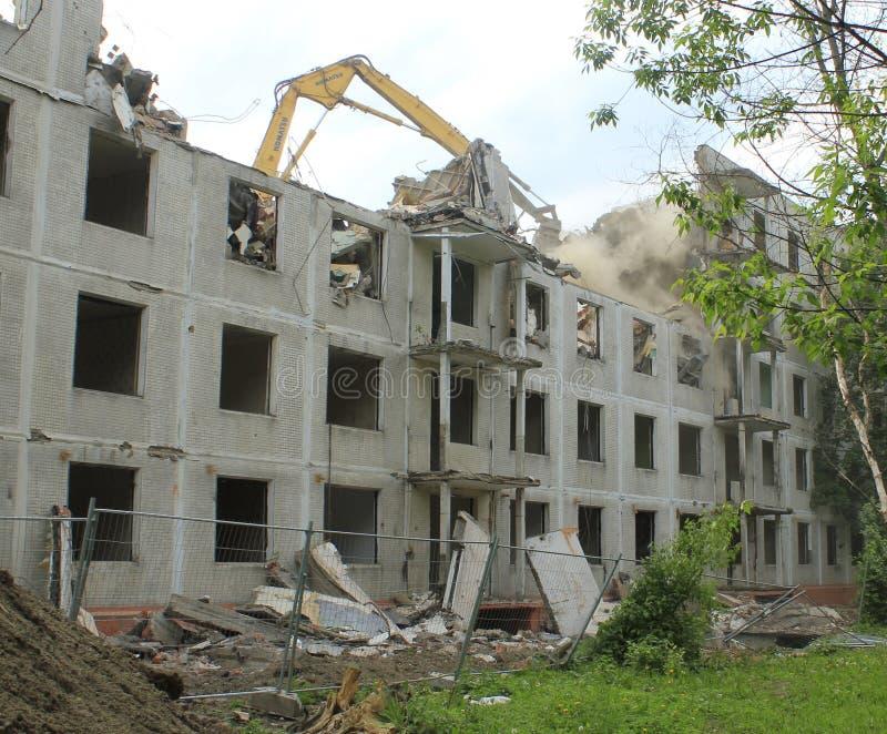 demolerat hus royaltyfri foto