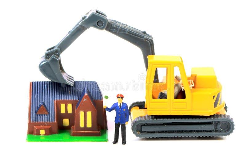 Demolição da casa fotografia de stock