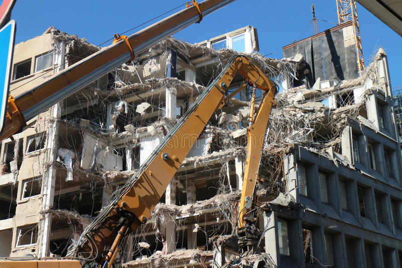 Demolição da construção fotos de stock royalty free