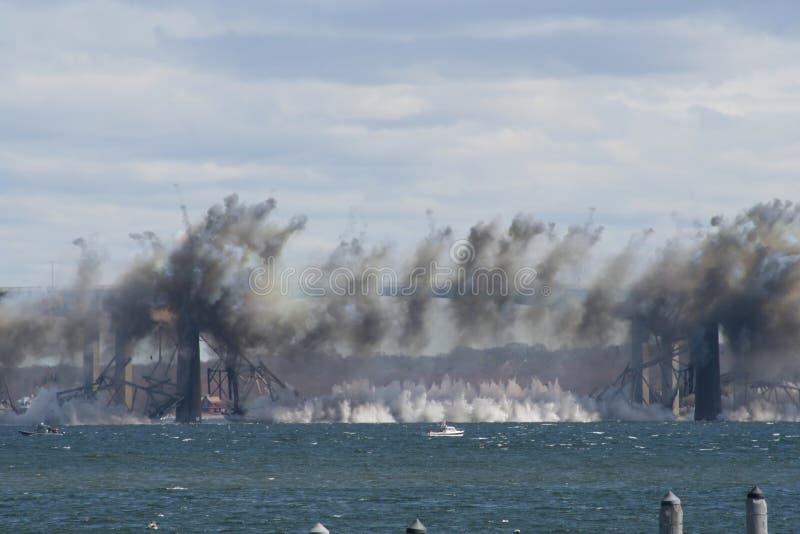 Demolição da ponte de Jamestown imagem de stock