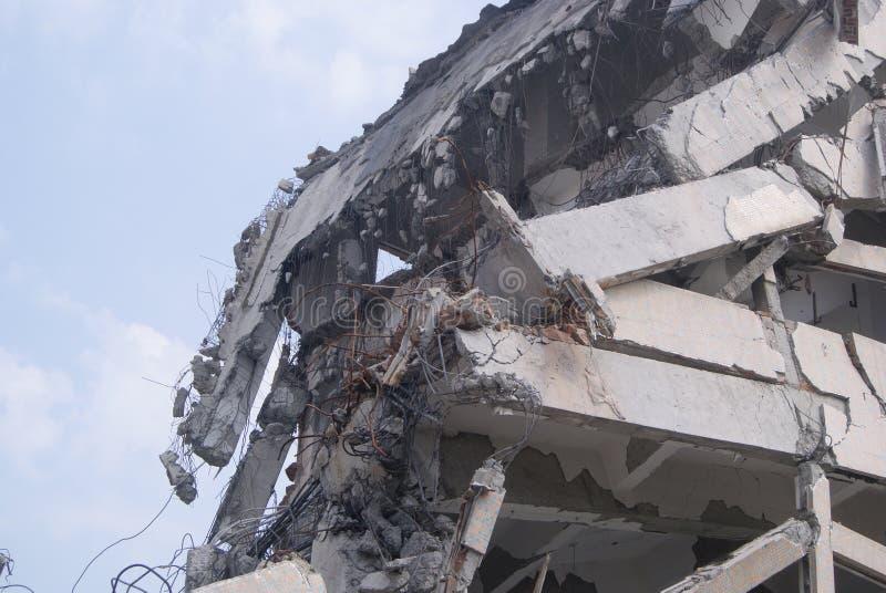 Demolição das construções, em China fotos de stock