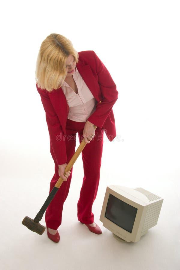Demolição do computador imagem de stock