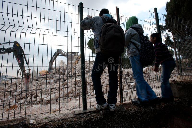 Demolición de Jerusalén oriental fotografía de archivo libre de regalías