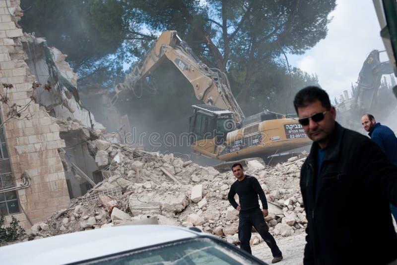 Demolición de Jerusalén oriental imágenes de archivo libres de regalías