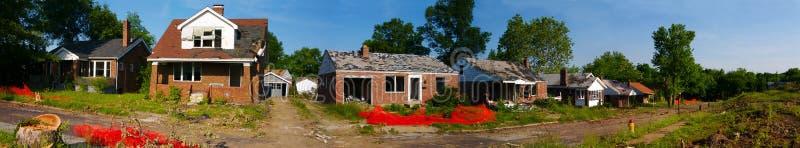 Demolición de la vecindad fotos de archivo libres de regalías