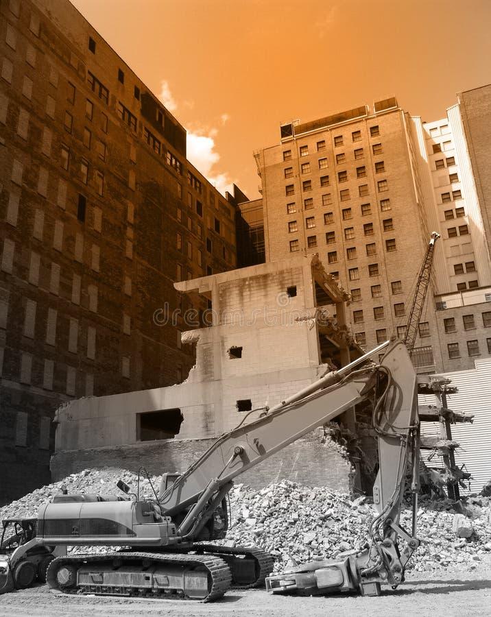 Demolición urbana imagen de archivo