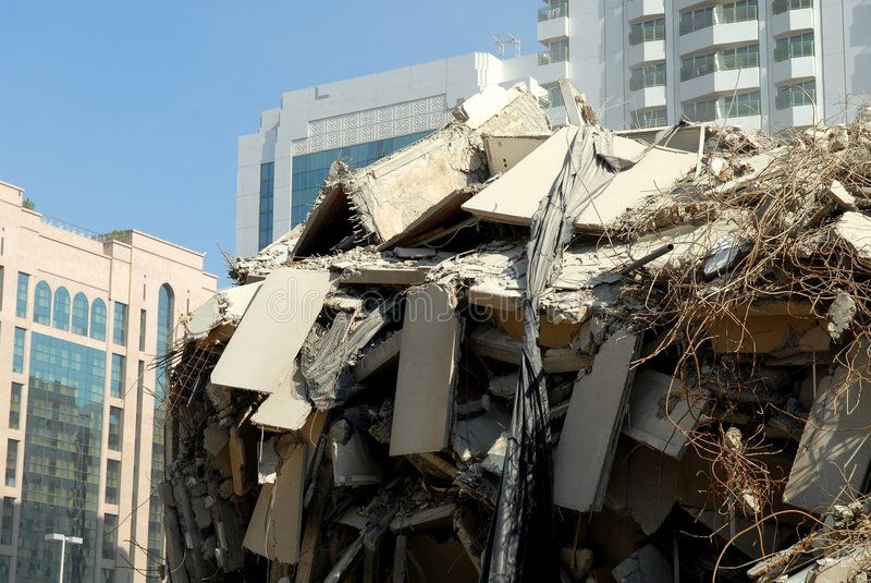 Demoliertes Gebäude stockfoto