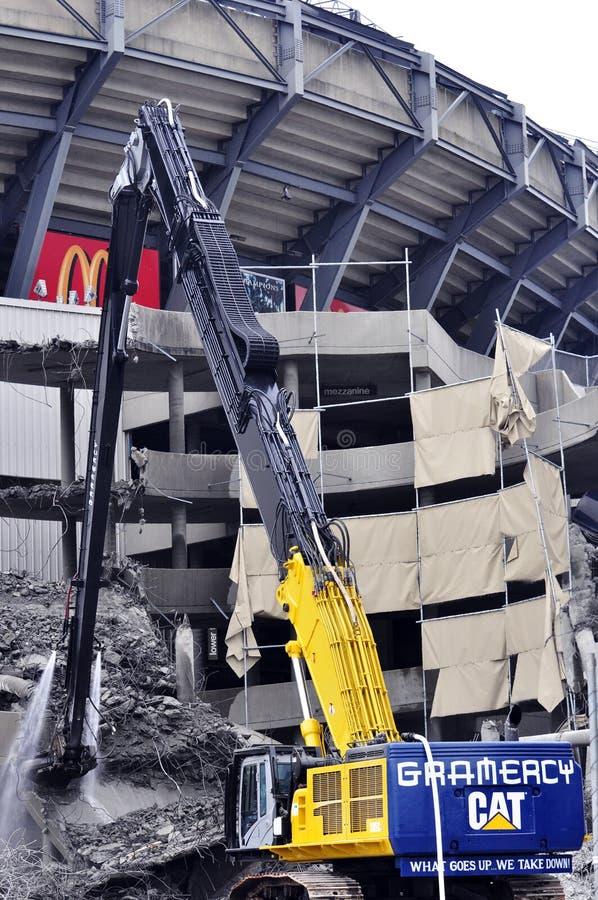 Demolierung des Giants-Stadions stockfotos
