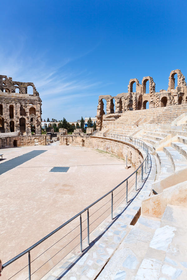 Download Demolished Ancient Seats In Tunisian Amphitheatre Royalty Free Stock Photo - Image: 29095585