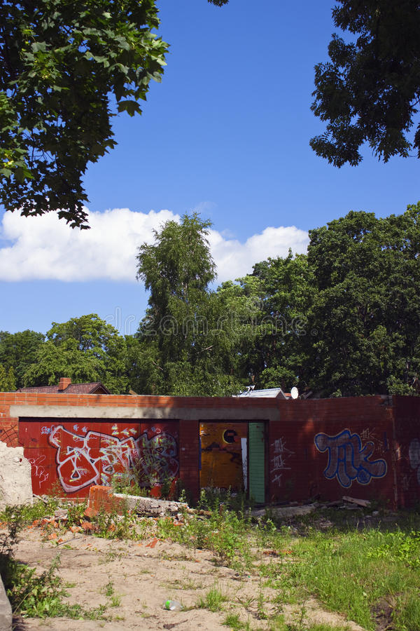 Download Demolished Building On Sunny Day Stock Photo - Image: 12395504