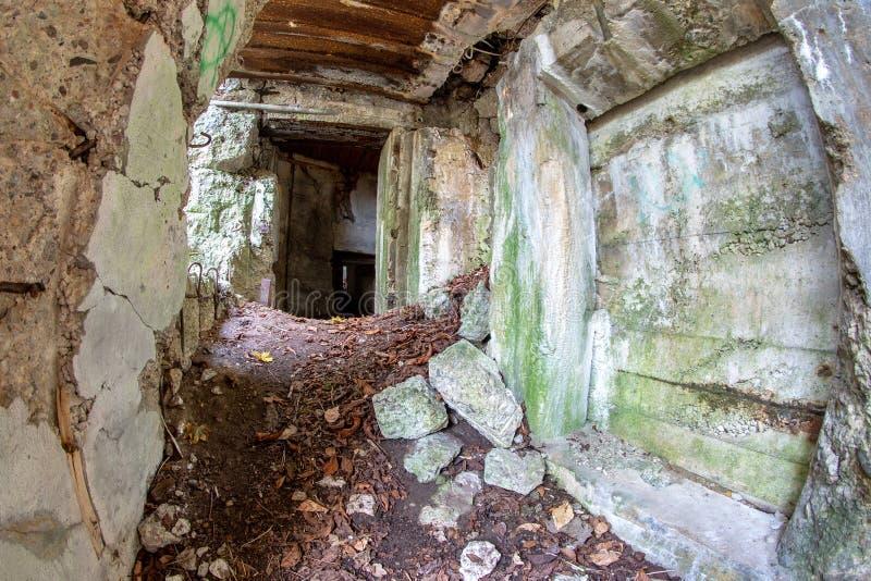 Demolished Bunker In Central Europe  Old Reinforced Concrete