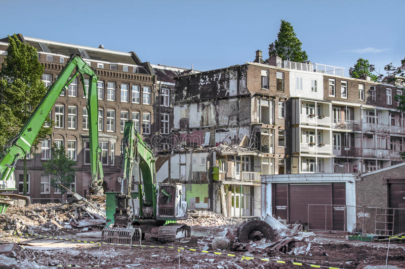 Download Demolition in Amsterdam stock photo. Image of balcony - 25335220